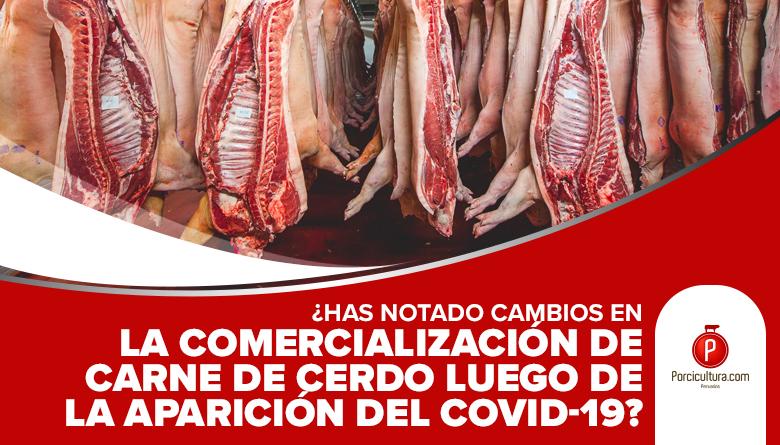 ¿Has notado cambios en la comercialización de carne de cerdo luego de la aparición del Covid-19?