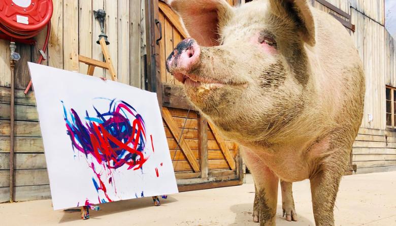 Que PigcassoEl Reloj A Artista Swatch Para Inspiró Su Nuevo Cerdo 80nwOkXPN