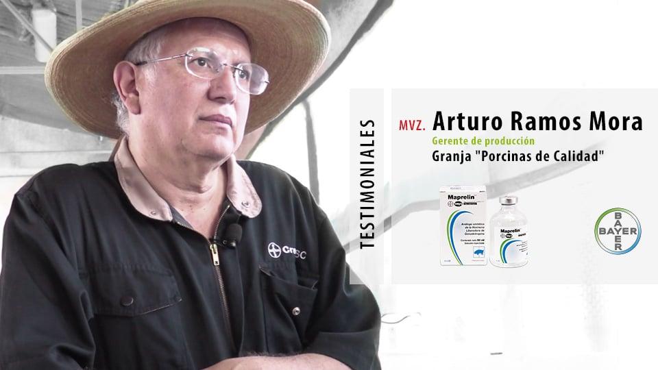 Testimonios Maprelin:  MVZ. Arturo Ramos Mora, Gerente de Producción Porcinas de Calidad