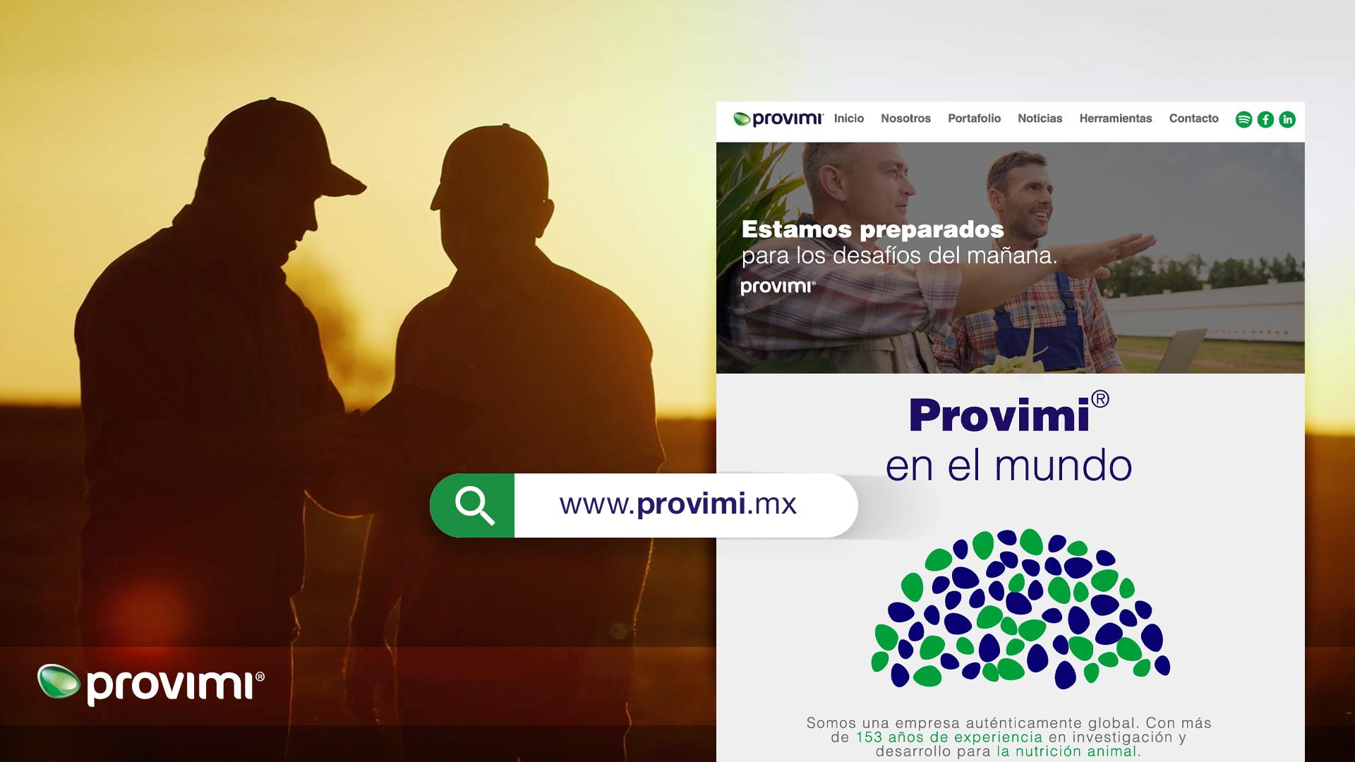Nuestros servicios no terminan aquí; en Provimi® lanzamos nuevo sitio web